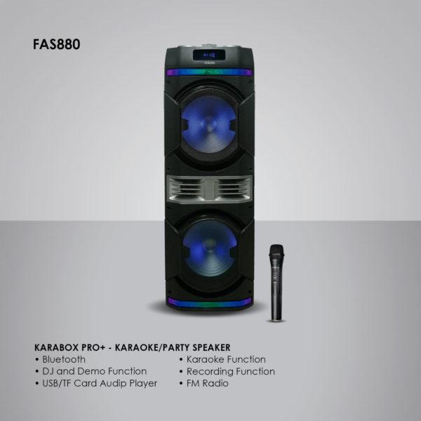 Fukuda FAS880 KARAboxPRO+ Karaoke Speaker 30Wx2 RMS