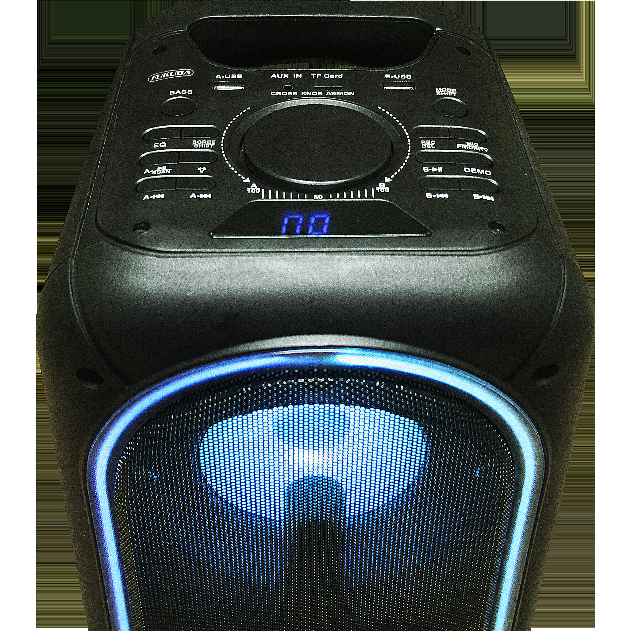 Fukuda FAS920 KARAboxJAMM Karaoke/Party Speaker 15Wx2+5Wx2 RMS