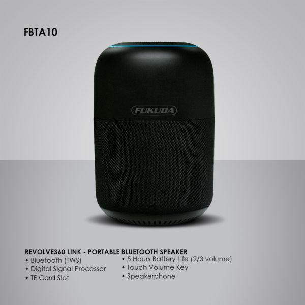 Fukuda FBTA10 Revolve360 Link Portable Bluetooth Speaker 10W RMS