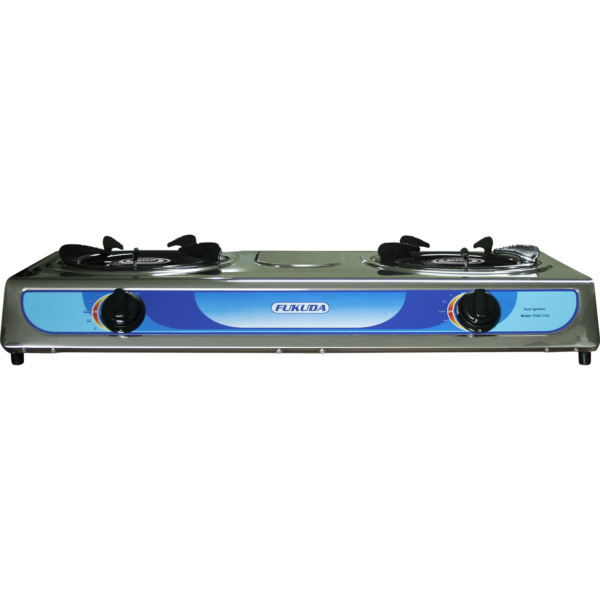 Fukuda FGS710S Stainless Double Burner Gas Stove