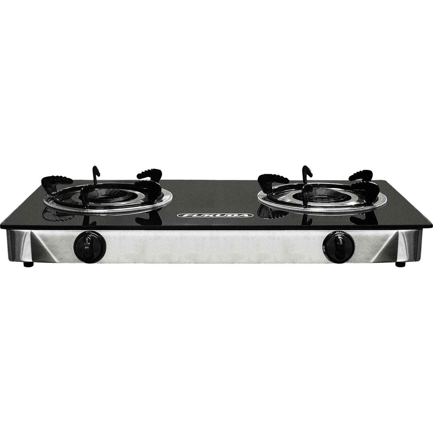Fukuda FGS900GL Heat Resistant Tempered Glass Top Double Burner Gas Stove