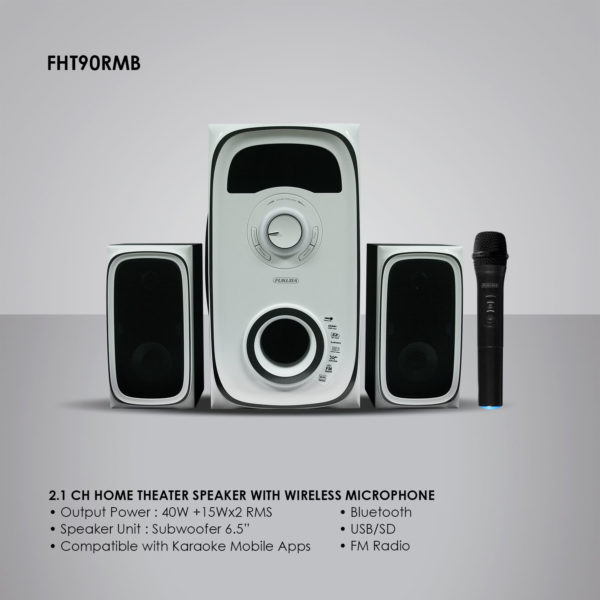 Fukuda FHT90RMB 2.1 Ch Home Theater Speaker with Wireless Microphone 80W RMS