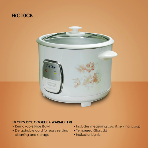 Fukuda FRC10CB 10 Cups Rice Cooker and Warmer 1.8L