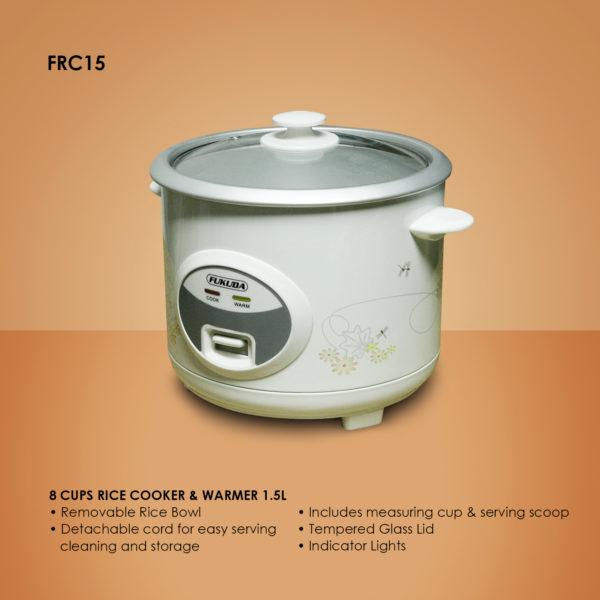 Fukuda FRC15 8 Cups Rice Cooker & Warmer 1.5L