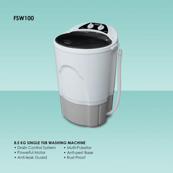 Fukuda FSW100 8.5 kg Single Tub Washing Machine